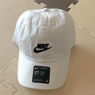 ナイキ(NIKE)のナイキ キッズキャップ新品 未使用 送料込 子供サイズ ジュニア 白 ホワイト(帽子)