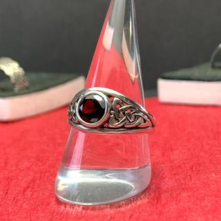 指輪 シルバー925  紅石(リング)