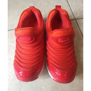 NIKE - NIKEダイナモフリー19センチ赤×オレンジ