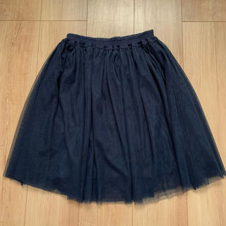サルース(salus)の中古品 チュールスカート ネイビー 膝丈 サルース(ひざ丈スカート)