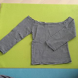 グレイル(GRL)のオフショルダー ボーダーTシャツ(Tシャツ/カットソー(七分/長袖))