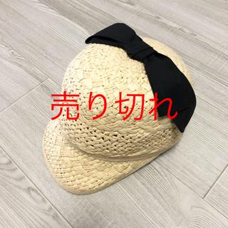 petit main - プティマイン  リボン付きキャップ 帽子