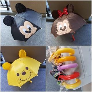 ディズニー(Disney)の【3本セット】ディズニー 子供用 雨傘 まとめ売り(傘)