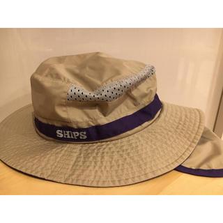 SHIPS - ships キッズ 帽子 サファリハット Lサイズ ベージュ 男の子女の子兼用