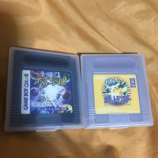 ゲームボーイ(ゲームボーイ)のGB ポケットモンスター黄ピカチュウ 、ポケモンカードGB(携帯用ゲームソフト)