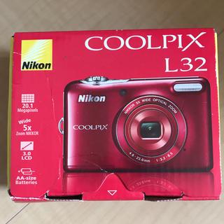 ニコン(Nikon)のNikon COOLPIX Life COOLPIX L32 RED (コンパクトデジタルカメラ)