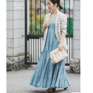 IENA - MARIHA マリハ 草原の虹のドレス ブルー