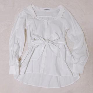 LIP SERVICE - リボンが可愛い長袖シャツ 試着のみ
