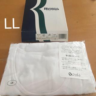 シャルレ(シャルレ)のシャルレ リーマス メンズトップ 半袖丸首 ホワイト LB(LL)(Tシャツ/カットソー(半袖/袖なし))
