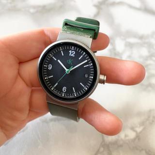 カルバンクライン(Calvin Klein)の【中古品】カルバンクライン グリーン 腕時計(腕時計(アナログ))