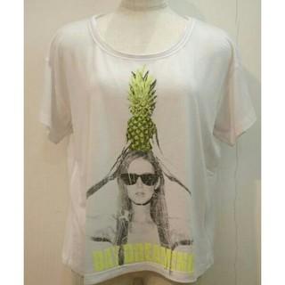 アウラアイラ(AULA AILA)のAULA AILA Tシャツカットソートップス白レディース送料無料(Tシャツ(半袖/袖なし))