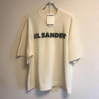 Jil Sander - 【新品未使用】19AW JIL SANDER オフホワイトウールボクシーTシャツ