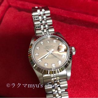 ROLEX - ロレックス 美品 10Pダイヤ ピンク デイジャスト 正規品 69174G