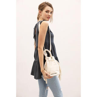 ALEXIA STAM - アリシアスタン Side Fringe Draw String Bag