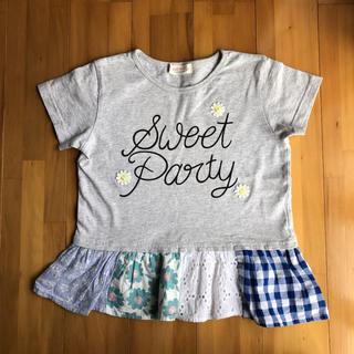 WILL MERY - ウィルメリー 裾パッチワーク風が可愛い Tシャツ 130