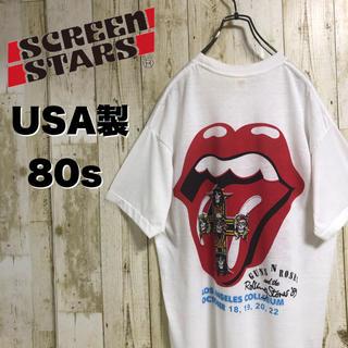 【激レア】Screen Stars ローリングストーンズ バンドTEE 80s(Tシャツ/カットソー(半袖/袖なし))