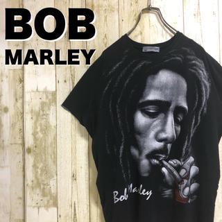 【激レア】ボブマーリー ビッグプリント CIGAR ビーズ プリントTシャツ