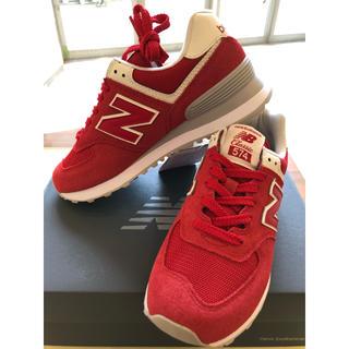 New Balance - ニューバランス クラシック 574 スニーカー 赤 レッド 24.0cm