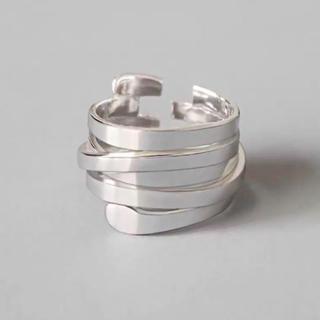 トゥデイフル(TODAYFUL)のシルバーリング 指輪 5連風デザイン ランダムスパイラル  オープンリング 新品(リング(指輪))