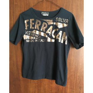 サルヴァトーレフェラガモ(Salvatore Ferragamo)のSalvatore Ferragamo フェラガモ メタリックロゴTシャツ M(Tシャツ(半袖/袖なし))