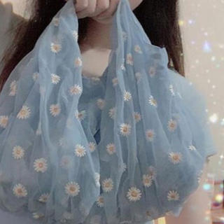 ZARA - デイジー 花刺繍バック💕ブルーのみ💕