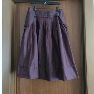 ヒロココシノ(HIROKO KOSHINO)のコシノヒロコ えんじ色 スカート(ひざ丈スカート)