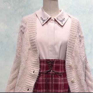 F i.n.t - 襟 刺繍 ブラウス ピンクパープル
