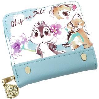 ディズニー(Disney)のDisney ディズニー チップとデール ウォレット 財布 合皮★ミント新品(財布)
