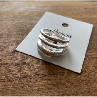 スピンズ(SPINNS)のスピンズ マットメタル3連リング シルバー 13インチ レディース(リング(指輪))