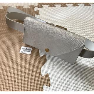 MAJESTIC LEGON - 未使用 ベルト付ポーチ ウエストポーチ グレー