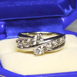 1.00ct スイートテン 天然ダイヤモンド リング pt900(リング(指輪))