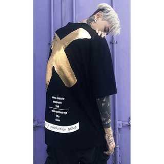 【ストリート系】バックプリントビックロゴ Tシャツ