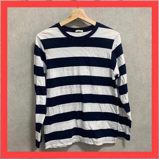 ジーユー(GU)のGU ジーユー 長袖 Tシャツ ボーダー(Tシャツ/カットソー(七分/長袖))