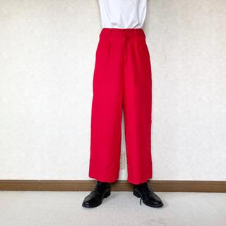 ドゥルカマラ(Dulcamara)のrayon easy pants red (スラックス)