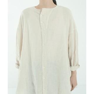 nest Robe - ネストローブ リネンノーカラーシャツ ベージュ 未使用品