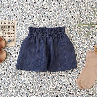 【2-3y】soor ploom Coco Shorts, Chambray