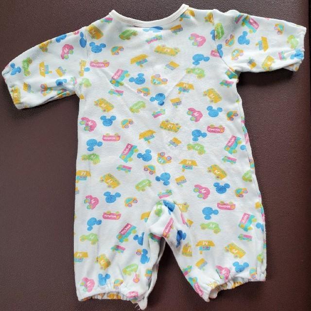 Disney(ディズニー)のディズニー ミッキー ベビー服 3点セット キッズ/ベビー/マタニティのベビー服(~85cm)(ロンパース)の商品写真