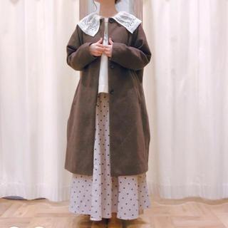 サマンサモスモス(SM2)のドット柄ギャザースカート(ロングスカート)