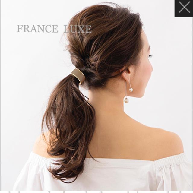 acca(アッカ)の新品 FRANCE LUXE カフポニー クラシックエナメル モカ レディースのヘアアクセサリー(ヘアゴム/シュシュ)の商品写真