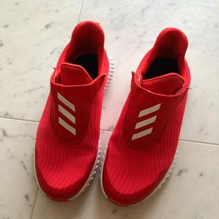 アディダス(adidas)のアディダス スニーカー オレンジ レッド キッズ 大人でも 21.5(スニーカー)