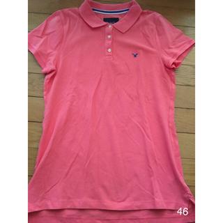 アメリカンイーグル(American Eagle)の【American Eagle】ポロシャツ ピンク(ポロシャツ)