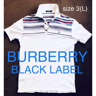 BURBERRY BLACK LABEL - 【美品】バーバリーブラックレーベル ボーダーポロシャツ