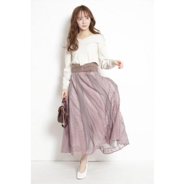 Rirandture(リランドチュール)の☆リランドチュール☆エアリーレースはぎスカート☆新品未使用☆ レディースのスカート(ロングスカート)の商品写真