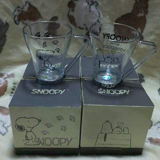スヌーピー(SNOOPY)のスヌーピー PEANUTS グラス コップ ガラス 取っ手付き(グラス/カップ)