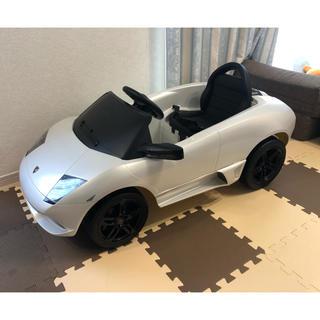 ランボルギーニ(Lamborghini)の電動乗用ラジコン ランボルギーニ 白 子供用 1人用(トイラジコン)
