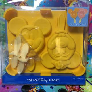 ディズニー(Disney)のディズニー限定シリコンモールド ディズニーシーミッキーミニーアイスチョコ(調理道具/製菓道具)