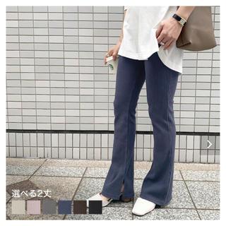 神戸レタス - タグ付き フレアリブパンツ