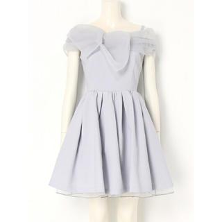 Lily Brown - 新品未使用タグ付 LillyBrown オーガンジーリボン ワンピース ドレス