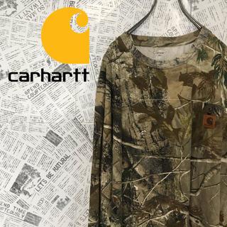 カーハート(carhartt)の90s カーハート Carhartt リアルツリーtree柄 ロンTシャツ(Tシャツ/カットソー(七分/長袖))
