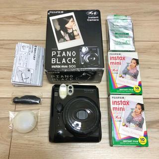 フジフイルム(富士フイルム)の美品 チェキ instax mini 50s ブラック(フィルムカメラ)